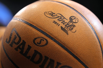 DALLAS, TX - JUNE 07:  A detail of the finals logo is seen on an offical spandling basketball as the Dallas Mavericks host the Miami Heat in Game Four of the 2011 NBA Finals at American Airlines Center on June 7, 2011 in Dallas, Texas. NOTE TO USER: User