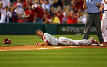 Chase Utley's knees should be an issue going forward.
