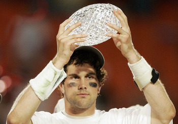 USC QB Matt Leinhart returned to USC for his senior year even though he won the Heisman Trophy and the BCS National Championship in 2004