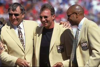 L-R Dave Wilcox, Joe Montana and Ronnie Lott