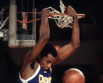 David Thompson dunking emphatically.