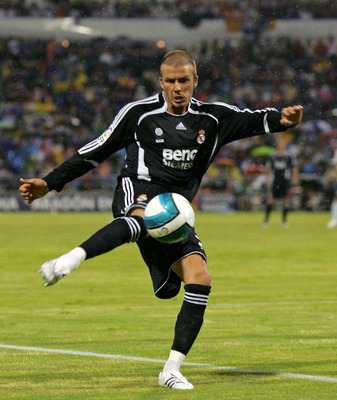 David Beckham, on the volley for Real Madrid.