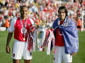 Henry and Pires with some hard-earned silverware.