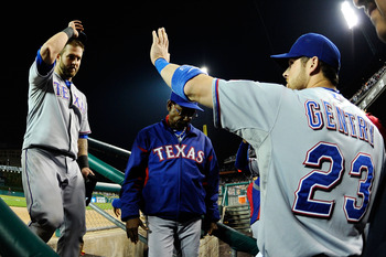 The Rangers have been high fiving a lot lately.