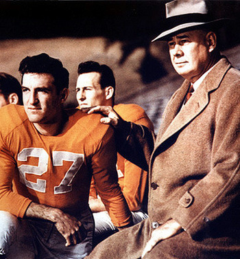 Hank Lauricella with General Robert Neyland