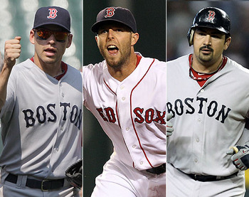 Three headed monster. Ellsbury, Pedroia, Gonzalez