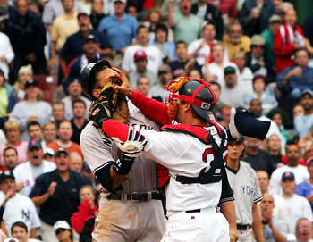 Varitek takes on A-Rod, July 24, 2004