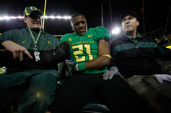 LaMichael James dislocated his elbow last week.