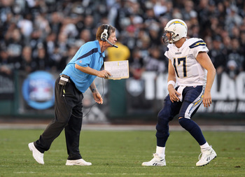 Norv Turner and Philip Rivers