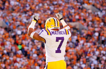 "LSU cornerback Tyrann ""Honey Badger"" Mathieu."