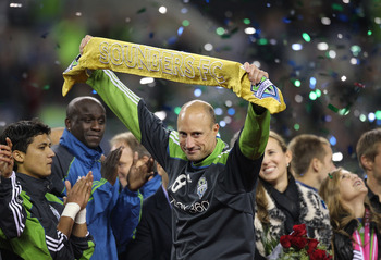 Kasey Keller...the man of the hour for the Seattle Sounders against the San Jose Earthquakes.