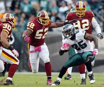 LeSean McCoy ran all over the Redskins defense for 126 yards on 28 carries.