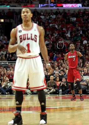 Derrick Rose and Dwyane Wade