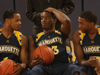 Dominic James, Wesley Matthews, and Jerel McNeal