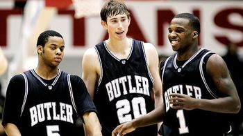 Ronald Nored, Gordon Hayward, and Shelvin Mack