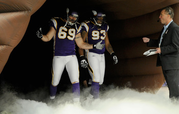 Since defensive tackle Kevin Williams' (No. 93) return, defensive end Jared Allen has averaged two sacks per game.