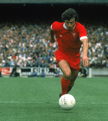 Kevin Keegan in Liverpool's Umbro Kit