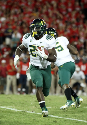 No LaMichael, no problem? Oregon running back Kenjon Barner stepped up in a big way against Arizona State.