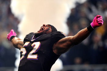 Ray Lewis is quite a scary sight.