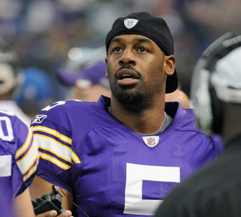 McNabb on the sideline of Sunday's game versus the Green Bay Packers