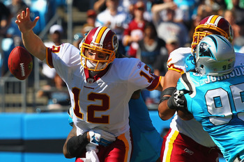 The Carolina Panthers took the ball away from the Redskins three times without a turnover of their own.