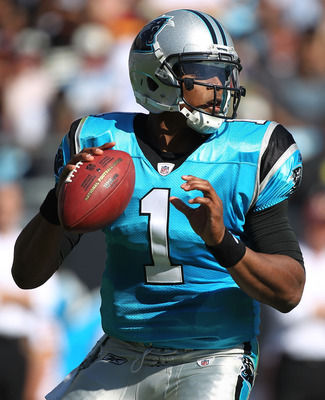 Cam Newton completed a career-best 78.3% of his passes against the Washington Redskins.