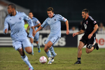 Mat Besler, center, delivered the game-winner for Sporting Kansas City against D.C. United.