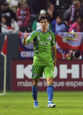 Alvaro Fernandez, who scored the second goal of the night for Seattle against Chivas USA, knows the job is far from done.