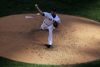 Colby Lewis beat the New York Yankees in Game 2 of the 2010 ALCS.