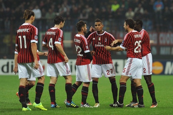 The champions, AC Milan have stars such as Robhino, Alexandre Pato and Zlatan Ibrahimovic