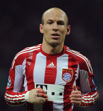 Arjen Robben was key in Bayern Munich's run to the 2010 Champions League final!