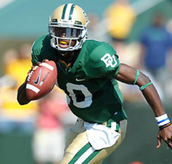 Shanahan could draft a promising talent like Baylor's Robert Griffin III to become his quarterback of the future.