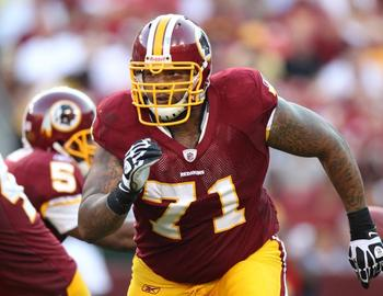 Second-year tackle Trent Williams leads a young offensive line that could use some experience and leadership.