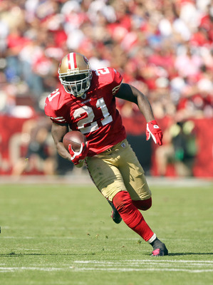 Frank Gore leads the 49ers in rushing