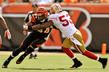 Navorro Bowman is in his second year with the 49ers