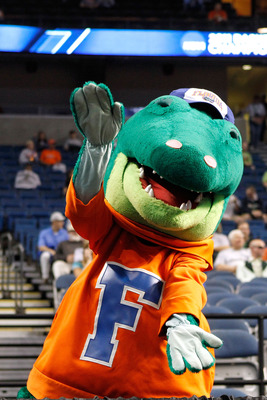 TAMPA, FL - MARCH 17:  Albert, the mascot for the Florida Gators performs against the UC Santa Barbara Gauchos during the second round of the 2011 NCAA men's basketball tournament at St. Pete Times Forum on March 17, 2011 in Tampa, Florida. Florida won 79