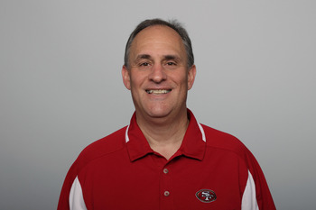 Vic Fangio runs the defense for the 49ers