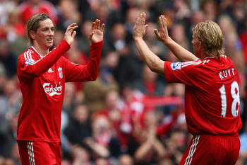 Kuyt was asked to deputize for an injured Torres to no avail