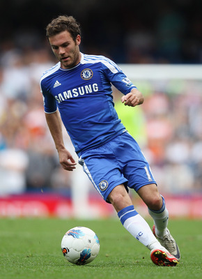 LONDON, ENGLAND - SEPTEMBER 24:  Juan Mata of Chelsea in action during the Barclays Premier League match between Chelsea and Swansea City at Stamford Bridge on September 24, 2011 in London, England.  (Photo by Clive Rose/Getty Images)