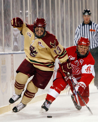 BC came up short to rival BU in the 2010 Frozen Fenway contest, but still won the Hockey East and NCAA titles that year