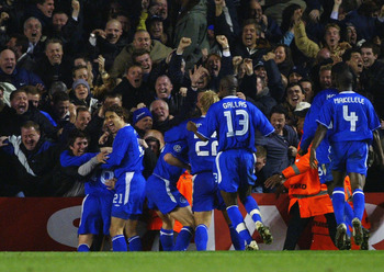 Wayne Bridge scores and the Chelsea fans are in raptures