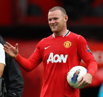 The match ball, and pretty much everything else, belonged to Wayne Rooney that day