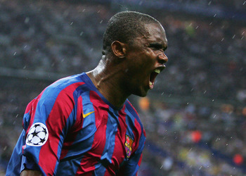 Eto'o roars as the tide turns in Barcelona's favor