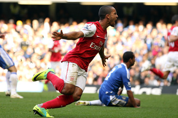 Theo gives Arsenal their third goal