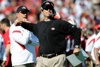Jim Harbaugh has led the 49ers to a 6-1 start.