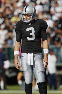 Carson Palmer had a rough return to California in his first game for the Raiders.