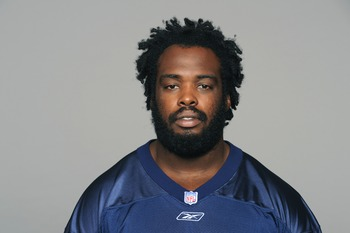 NASHVILLE, TN - CIRCA 2011: In this handout image provided by the NFL, Byron Stingily of the Tennessee Titans poses for his NFL headshot circa 2011 in Nashville, Tennessee. (Photo by NFL via Getty Images)