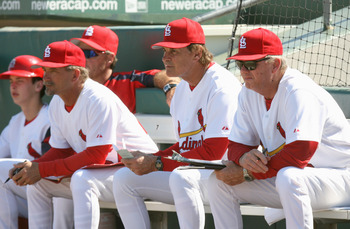 Pettini served as interim manager when La Russa was forced to take a leave of absence earlier this season.(L-R: Pettini, La Russa, Duncan)