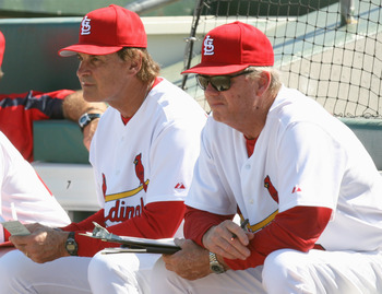 One would believe that pitching coach Dave Duncan (right) would be a front-runner for the Cardinals' managerial position, but...
