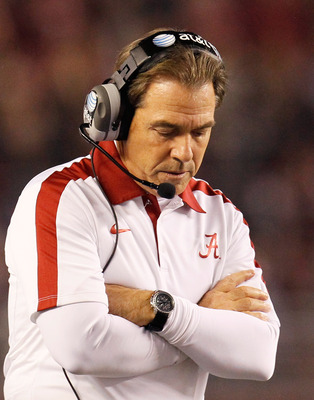 Alabama coach Nick Saban is pretty happy with his large salary and control